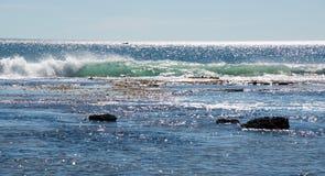 Цаца Индийского океана на пляже свищей в металле Стоковое Фото