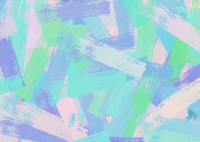 Цветастая абстрактная акриловая картина Стоковая Фотография RF