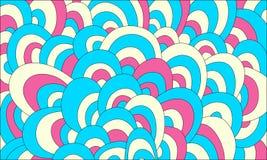 Цветастая абстрактная нарисованный вручную предпосылка волн Стоковое Изображение RF