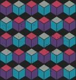Цветастая безшовная картина кубика Стоковые Изображения