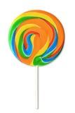 цветастая белизна lollipop Стоковые Изображения