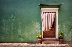 цветастая дверь Стоковое Изображение