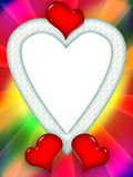 цветастая влюбленность сердец рамки Стоковая Фотография RF