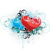 цветастая влюбленность сердец конструкции Стоковые Фотографии RF