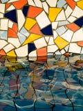 цветастая вода стены Стоковое фото RF