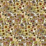 Цветастая геометрическая безшовная картина Квадраты различных размеров и цветов Стоковое Изображение RF