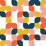 Цветастая геометрическая безшовная картина ретро тип иллюстрация штока