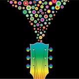 цветастая гитара Стоковые Изображения RF