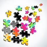 цветастая головоломка 3d иллюстрация вектора