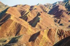 Цветастая гора в landform Danxia Стоковое Изображение