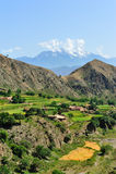 цветастая гора ландшафта стоковое фото rf