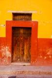 цветастая дверь деревенская Стоковые Фотографии RF