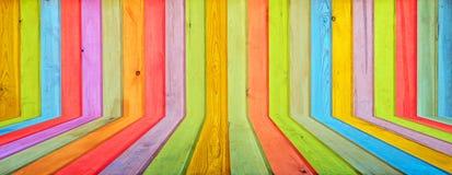 Цветастая деревянная предпосылка Стоковая Фотография RF