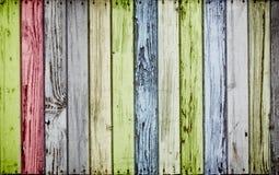 Цветастая деревянная предпосылка Стоковая Фотография