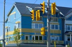 цветастая дом освещает улицу Стоковая Фотография RF