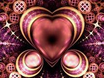 цветастая драгоценность сердца любит богачи Стоковые Изображения RF
