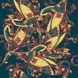Цветастая египетская безшовная картина Стоковое Фото