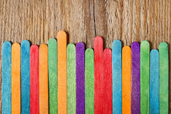 Цветастая деревянная загородка Стоковая Фотография