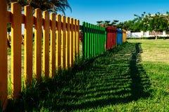 Цветастая деревянная загородка Стоковые Фото
