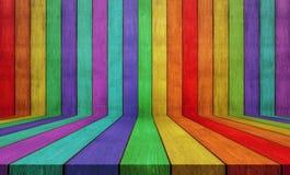 Цветастая деревянная предпосылка текстуры также использованный для дисплея или монтажа ваши продукты Стоковое Изображение