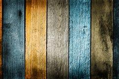 Цветастая деревянная предпосылка текстуры Стоковое фото RF