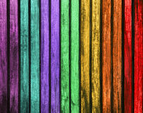 Цветастая деревянная текстура красочные покрашенные деревянные панели Красочная древесина обшивает панелями предпосылку текстуры Стоковые Фото