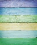 Цветастая деревянная текстура планок Стоковое фото RF