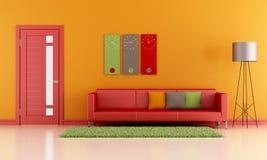 Цветастая живущая комната Стоковое Изображение