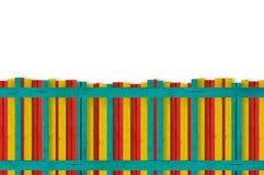 цветастая загородка деревянная Стоковое фото RF