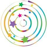 цветастая закрутка звезд градиента Стоковое Изображение