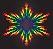 цветастая звезда Иллюстрация вектора