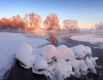 цветастая зима ландшафта зима вектора иллюстрации предпосылки красивейшая Стоковые Фотографии RF