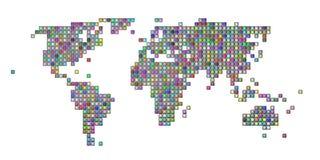 цветастая карта придала квадратную форму миру Стоковые Фотографии RF