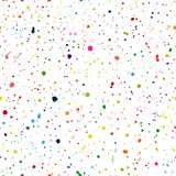 цветастая картина безшовная Пятна вектора, закрывают, брызгают Стоковые Изображения