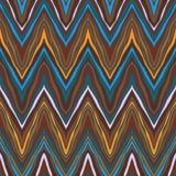 Цветастая картина зигзага, безшовный вектор Стоковые Изображения RF