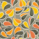 Цветастая картина листьев осени безшовная Стоковые Изображения