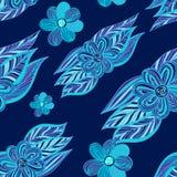 цветастая картина цветков безшовная флористическая рамка обрамляет серию также вектор иллюстрации притяжки corel Стоковое Фото