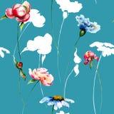 цветастая картина цветков безшовная Стоковая Фотография RF