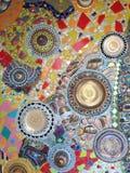 Цветастая керамическая стена Стоковая Фотография