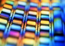 цветастая клавиатура компьютера Стоковые Изображения RF