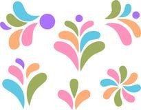 цветастая конструкция падает листья элементов Стоковое Фото