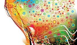 цветастая конструкция флористическая бесплатная иллюстрация