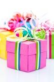 Цветастая коробка подарков Стоковая Фотография RF
