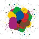 цветастая краска брызгает Стоковое Изображение RF