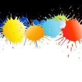 цветастая краска брызгает Стоковые Фотографии RF
