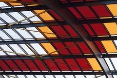 Цветастая станция Амстердам крыши Стоковые Фото