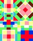 Цветастая кубическая предпосылка Стоковое Изображение