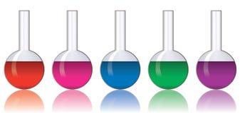 цветастая лаборатория стеклоизделия бесплатная иллюстрация