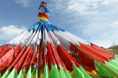 цветастая молитва Тибет флагов Стоковая Фотография RF