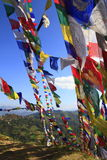 цветастая молитва флагов Стоковая Фотография